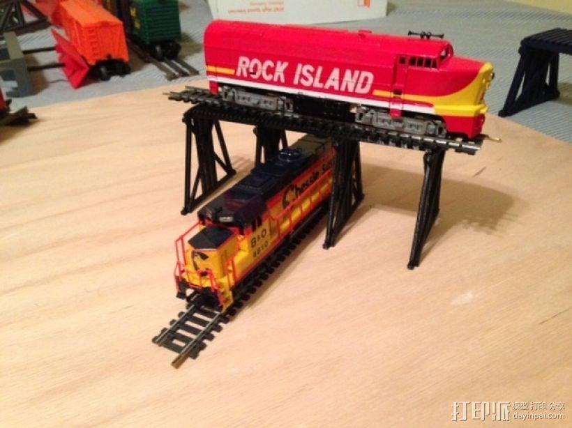 高架桥 火车道 3D模型  图3