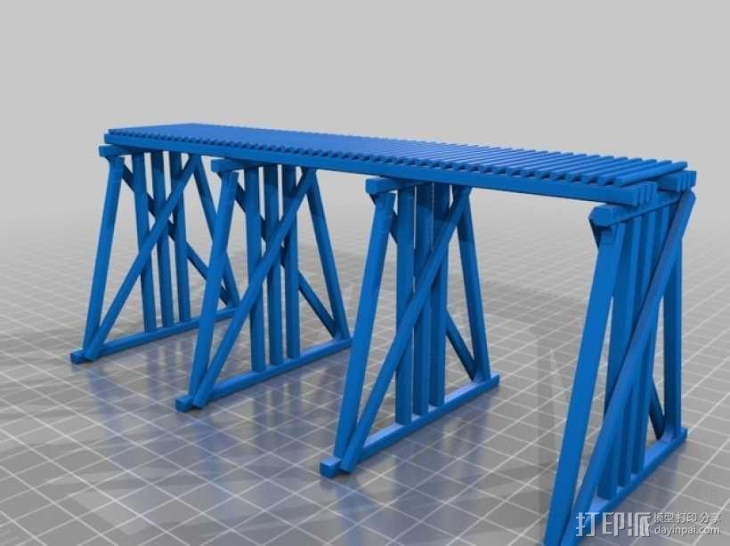 高架桥 火车道 3D模型  图6