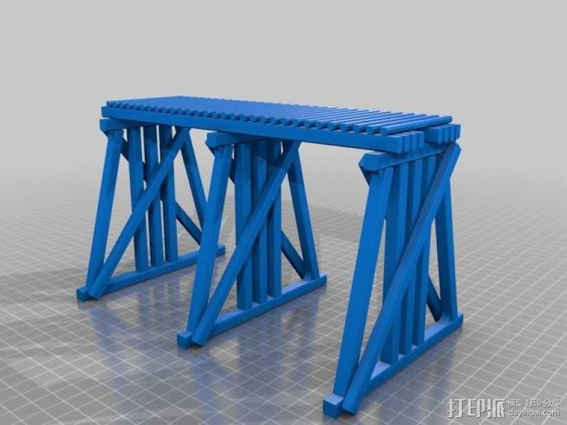 高架桥 火车道 3D模型  图5