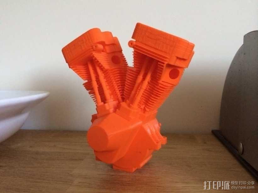 双缸引擎 3D模型  图1