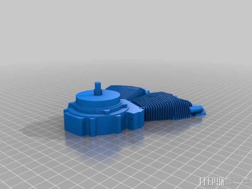 双缸引擎 3D模型  图3