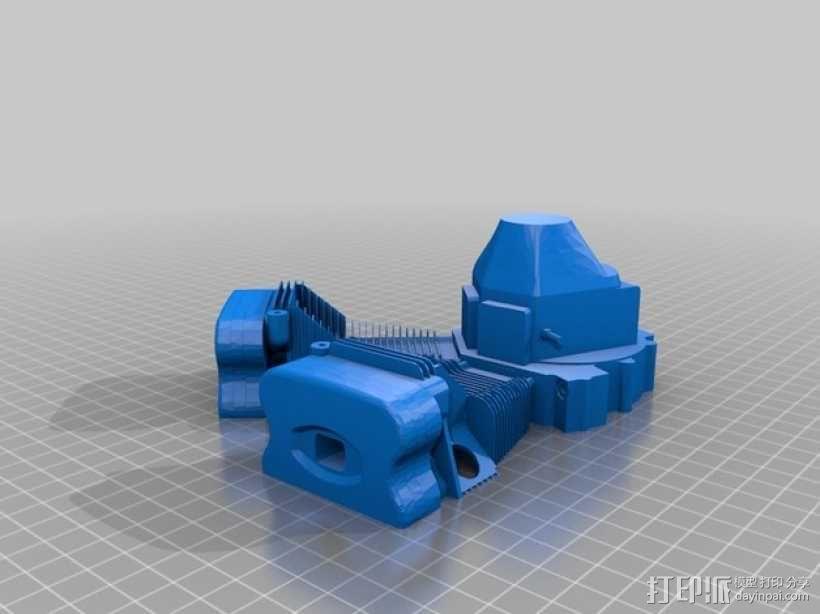 双缸引擎 3D模型  图4