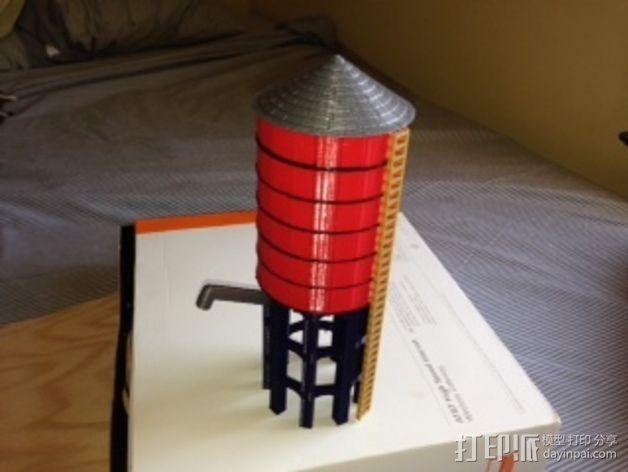 火车道 储水塔 3D模型  图1