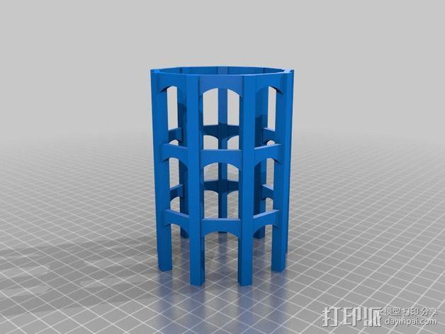 火车道 储水塔 3D模型  图2