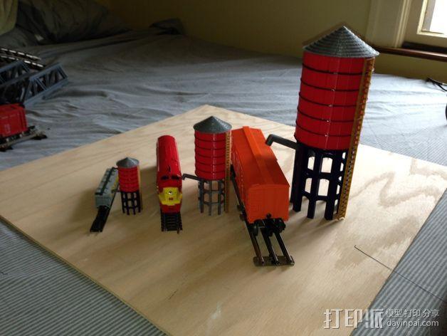 火车道 储水塔 3D模型  图7