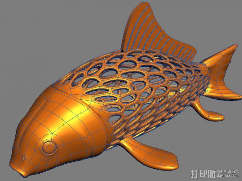鲤鱼 3D模型  图4