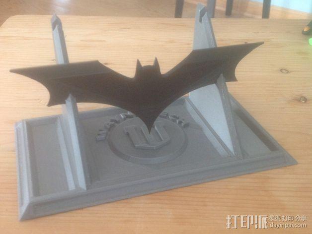蝙蝠镖展示架 3D模型  图3