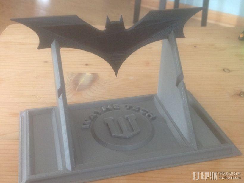 蝙蝠镖展示架 3D模型  图1