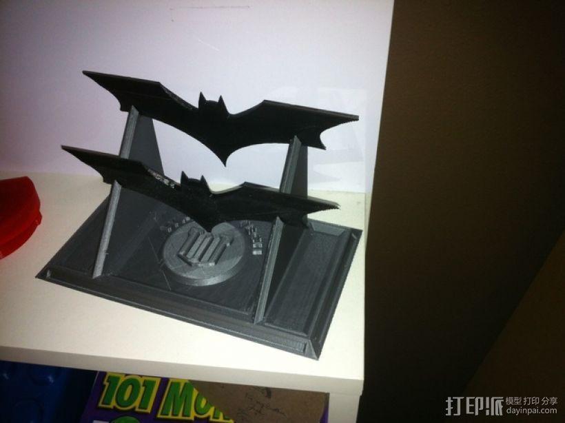蝙蝠镖展示架 3D模型  图5