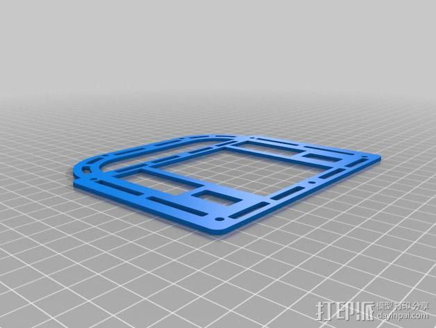 巴洛克式房屋 食品盒 3D模型  图2