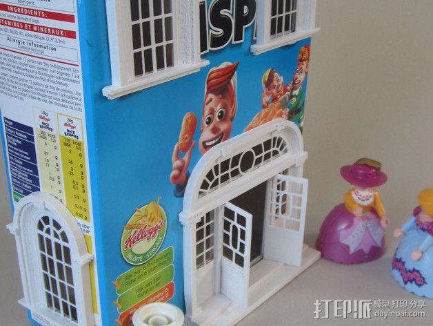 巴洛克式房屋 食品盒 3D模型  图1