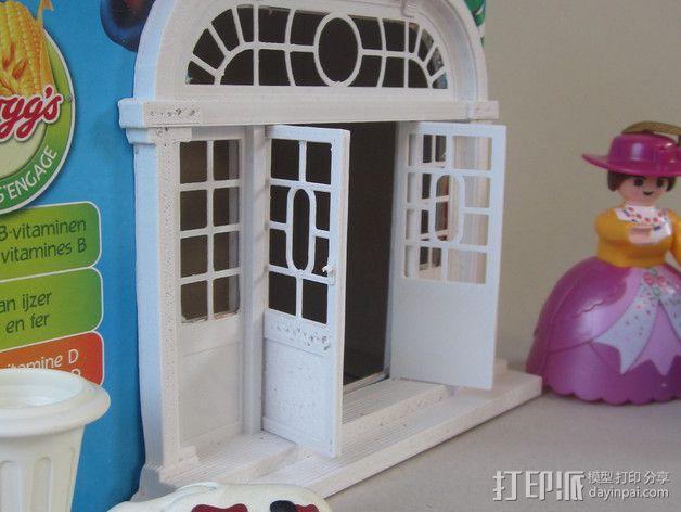 巴洛克式房屋 食品盒 3D模型  图4