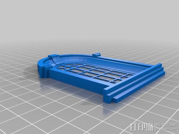 巴洛克式房屋 食品盒 3D模型  图7