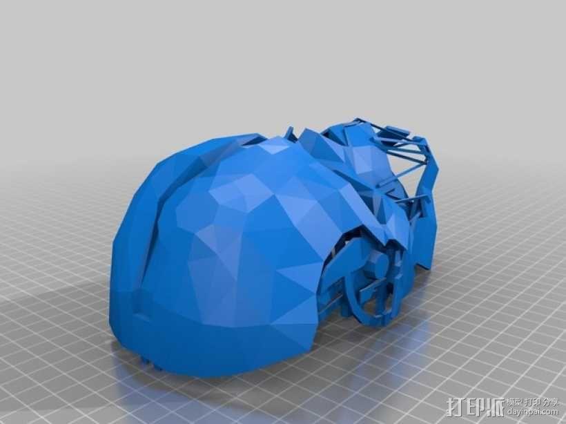 Corvo面具 3D模型  图1