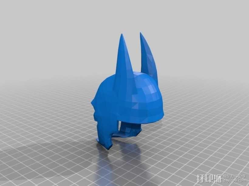 蝙蝠侠头盔 3D模型  图2