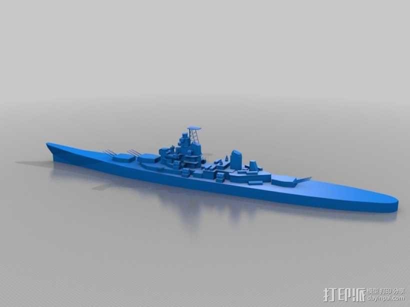 战舰模型 3D模型  图2