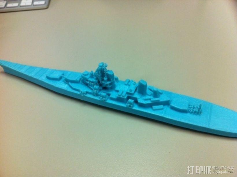 战舰模型 3D模型  图1