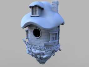 小矮人的树屋 3D模型