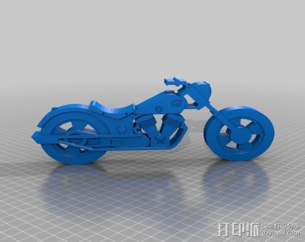 摩托车 3D模型  图3