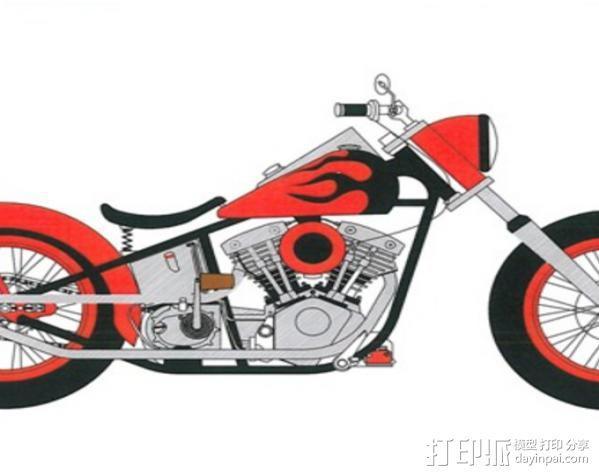 摩托车 3D模型  图13