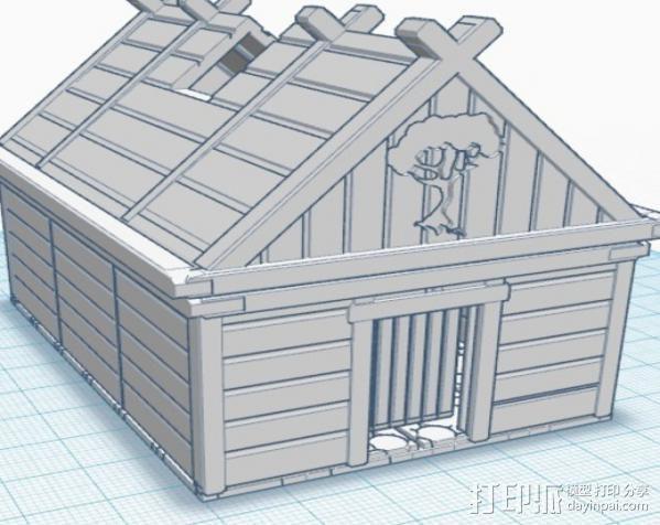 维京人的房子 3D模型  图3