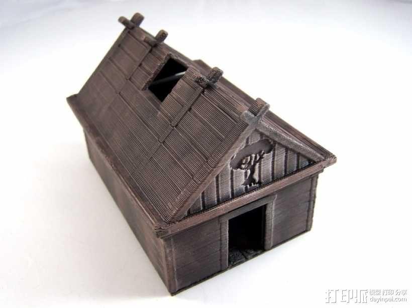 维京人的房子 3D模型  图1