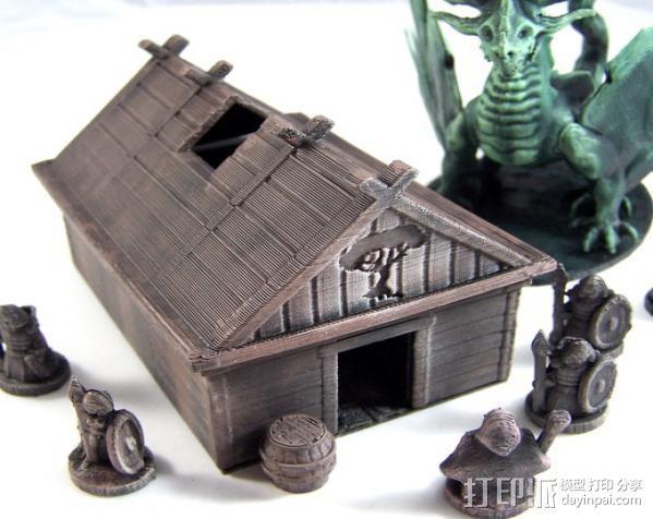 维京人的房子 3D模型  图2