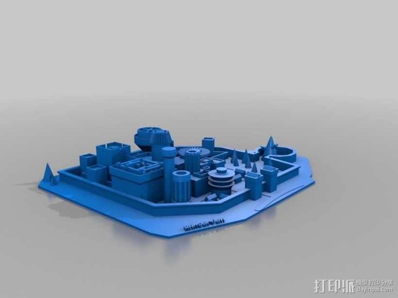 临冬城 建筑模型 3D模型  图1
