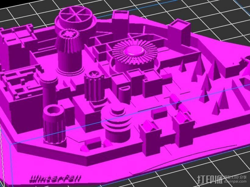 临冬城 建筑模型 3D模型  图3
