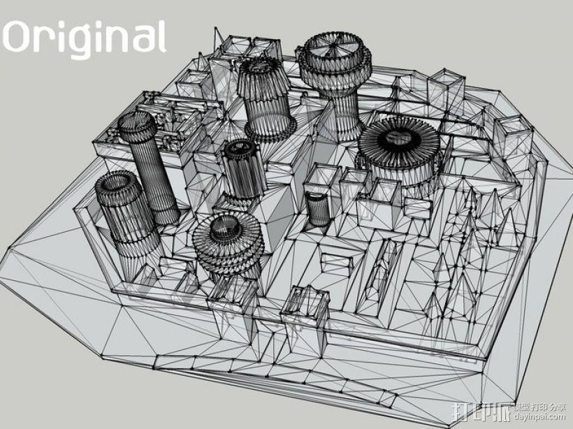 临冬城 建筑模型 3D模型  图4