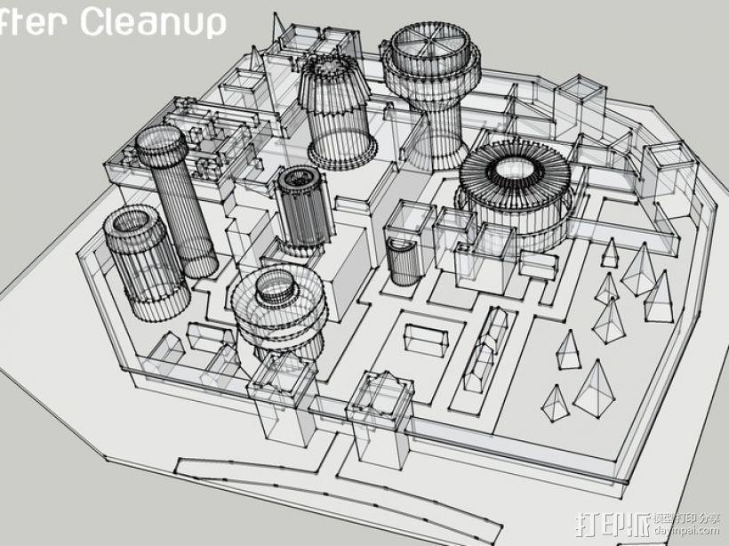 临冬城 建筑模型 3D模型  图5