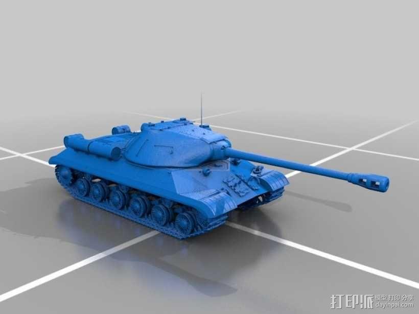 装甲车 坦克 3D模型  图1