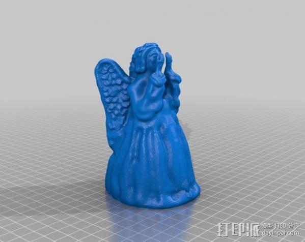 哭泣的天使 树顶装饰 3D模型  图6