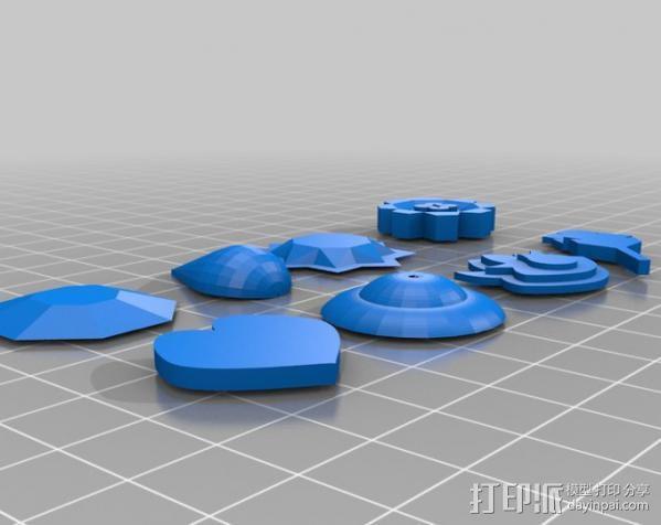 口袋妖怪图鉴徽章 3D模型  图1