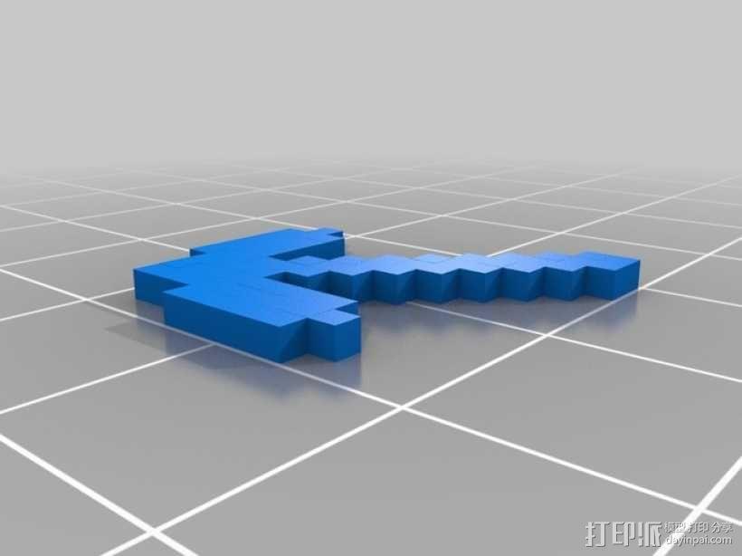 我的世界 鹤嘴锄 3D模型  图1