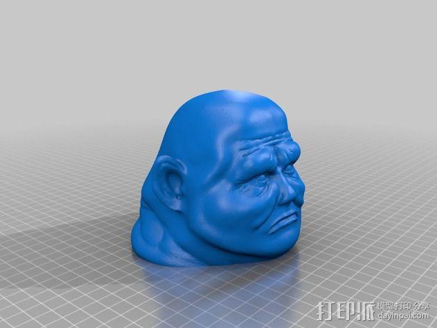 桑塔人半身像 3D模型  图9