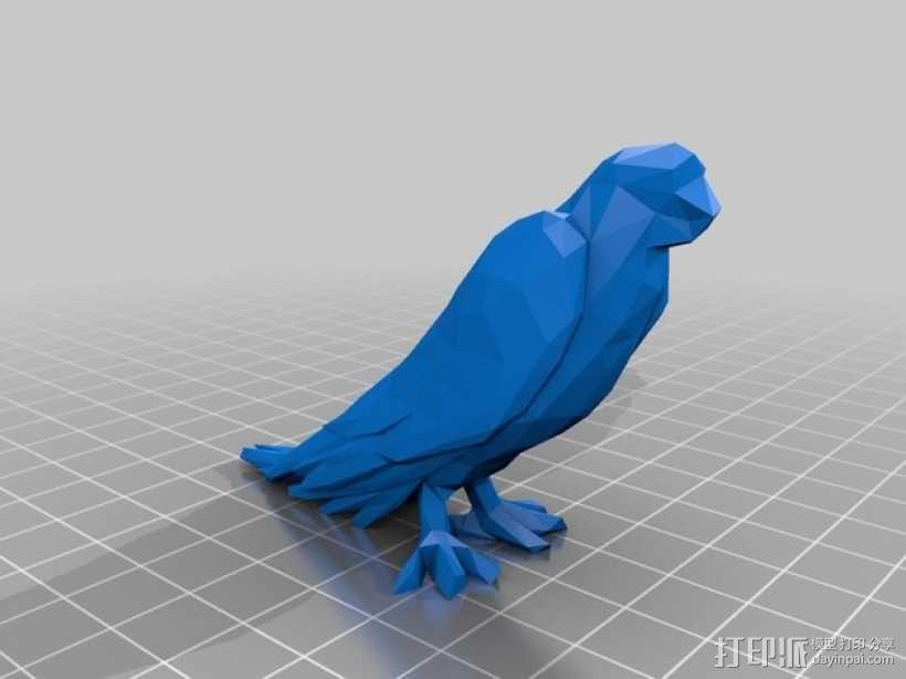 低面数鹦鹉 3D模型  图1