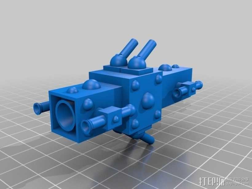 护卫舰船舱 3D模型  图1