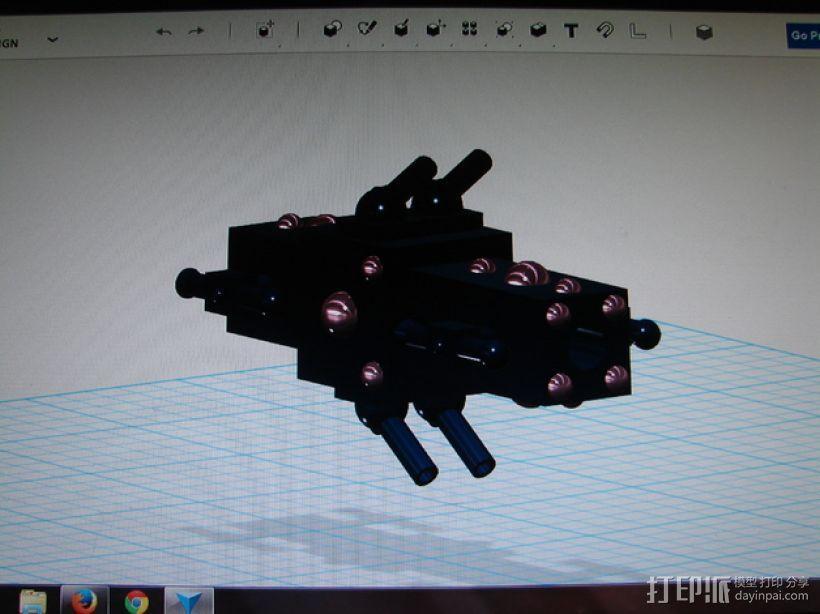 护卫舰船舱 3D模型  图3