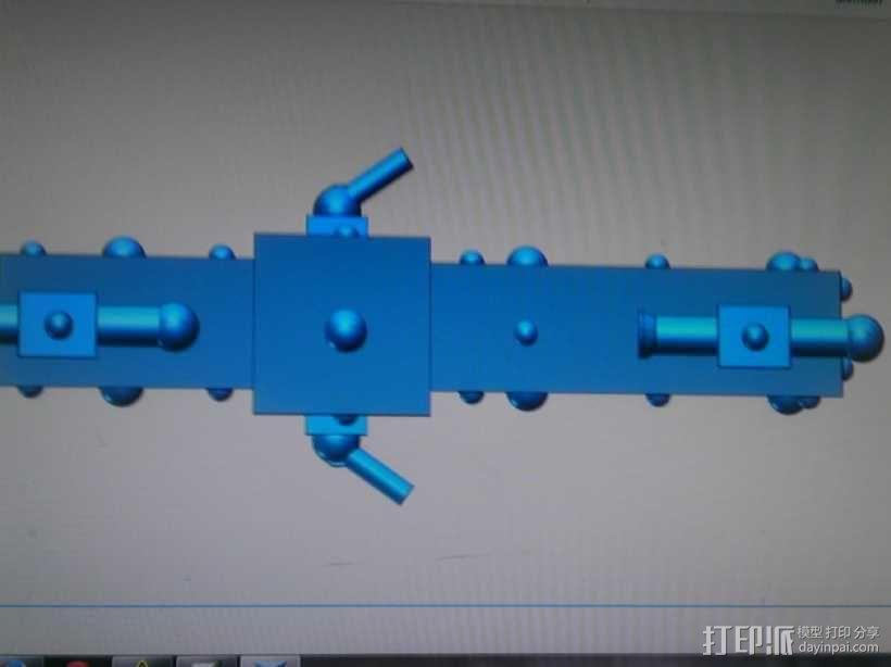 护卫舰船舱 3D模型  图2