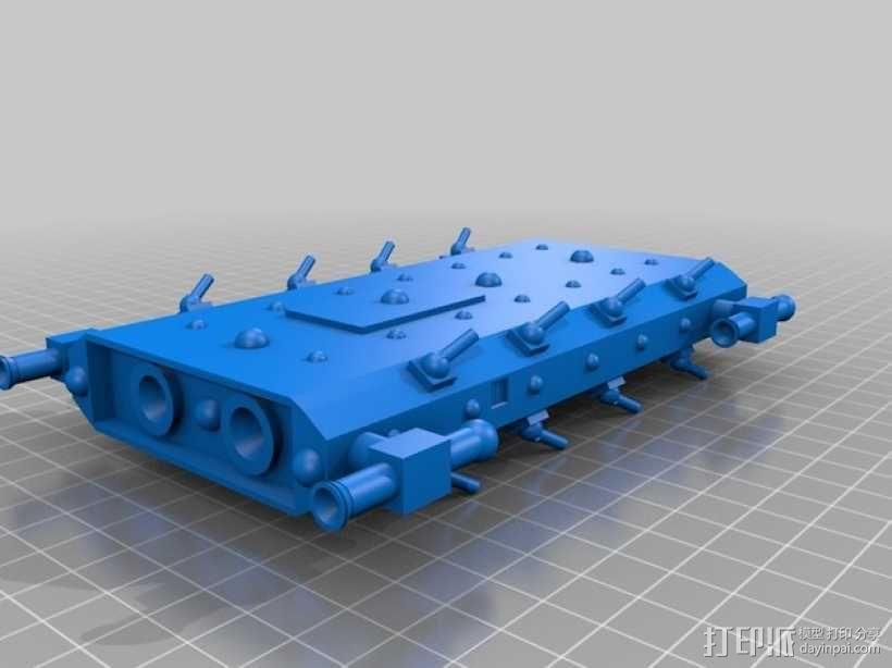 战舰 船舱 3D模型  图2
