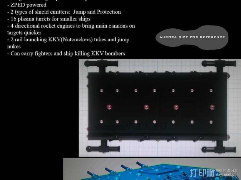战舰 船舱 3D模型  图5