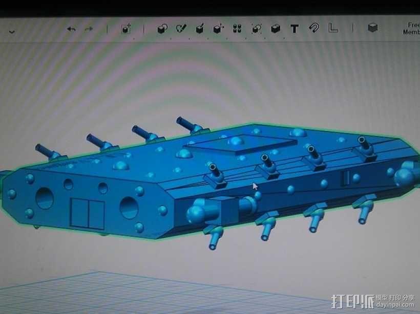 战舰 船舱 3D模型  图4