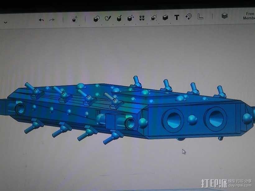 战舰 船舱 3D模型  图3