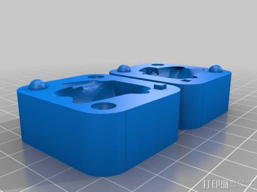 招财猫模具 3D模型  图2
