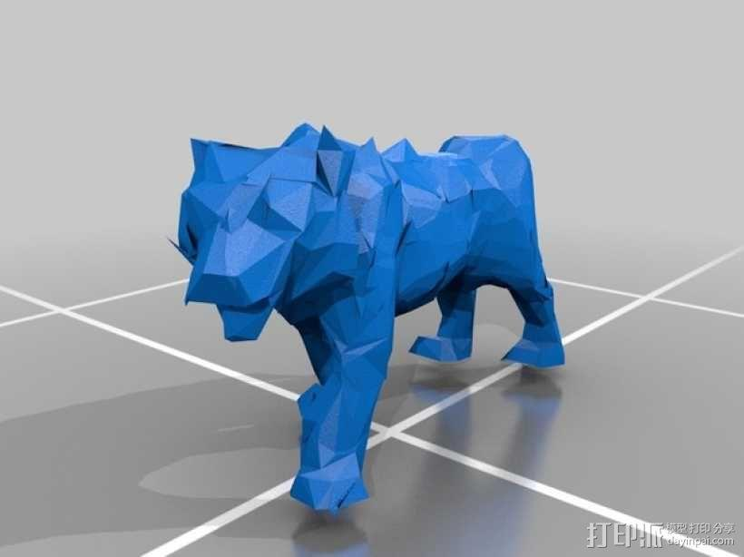 低面数老虎模型 3D模型  图1