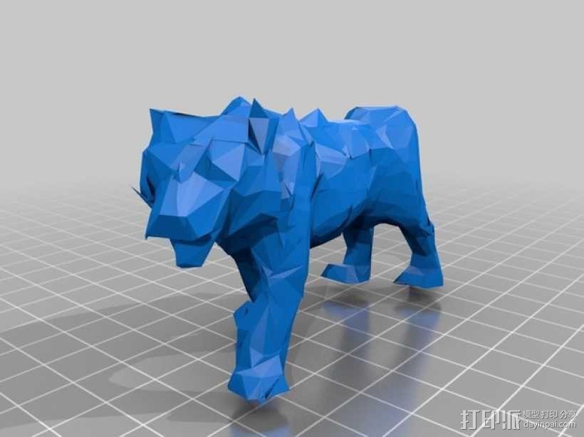 低面数老虎模型 3D模型  图2