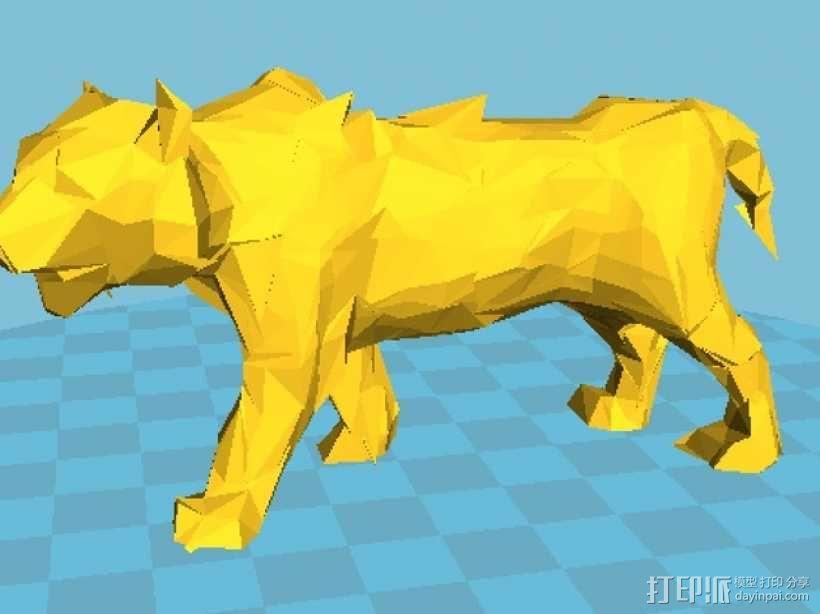 低面数老虎模型 3D模型  图3