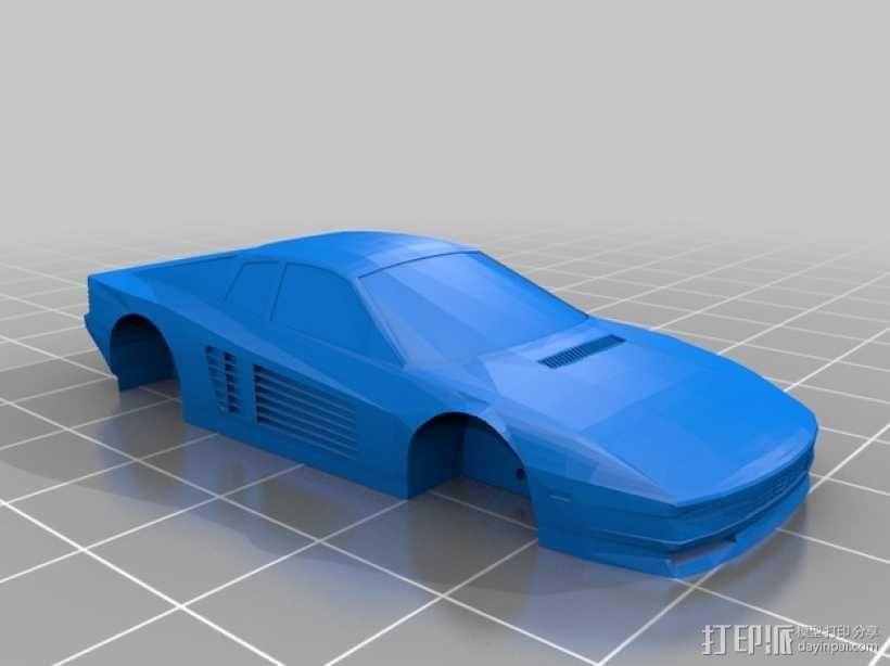 法拉利 Testarossa跑车 3D模型  图1
