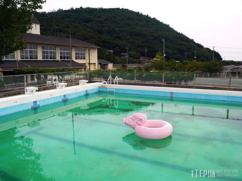 野猪游泳圈 3D模型  图1